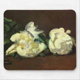 Still Life White Peony by Manet Mouse Pad