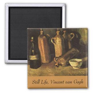 Still Life with 4 Stone Bottles; Vincent van Gogh Magnets