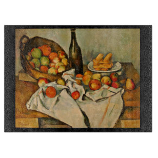Still Life with a Basket of Apples Carving Board