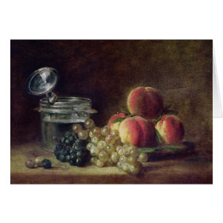 Still Life with a Basket of Peaches Greeting Card