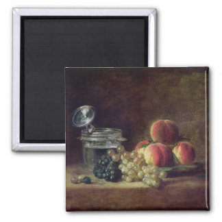 Still Life with a Basket of Peaches Magnet