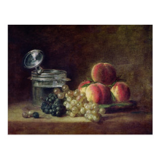 Still Life with a Basket of Peaches Postcard