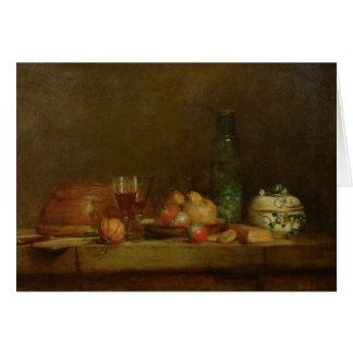 Still Life with a Bottle of Olives, 1760 Greeting Card