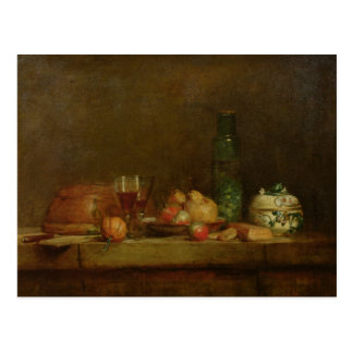 Still Life with a Bottle of Olives, 1760 Postcard