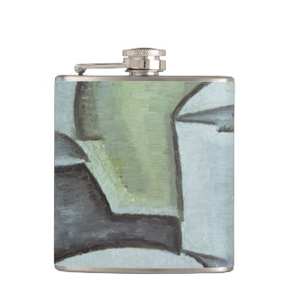 Still Life with a Bottle of Wine and an Earthenwar Hip Flask