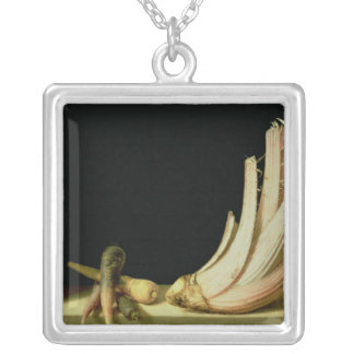 Still Life with a Cardoon Silver Plated Necklace