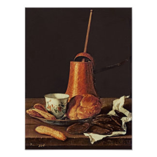 Still Life with a Drinking Chocolate Set, 1770 Poster