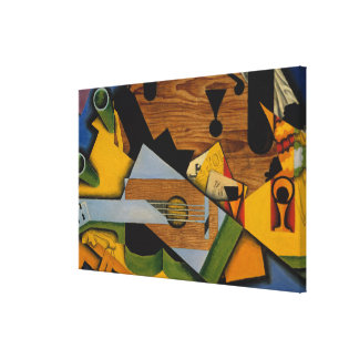 Still Life with a Guitar Canvas Print