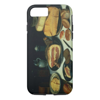 Still Life with a Ham (oil on panel) iPhone 7 Case