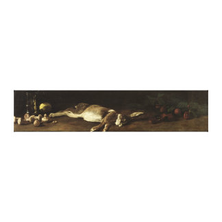 Still Life with a Hare, 1863 Canvas Print