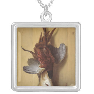 Still Life with a Hare Silver Plated Necklace