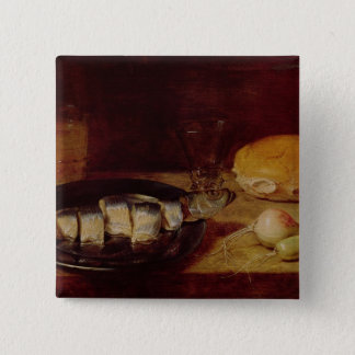 Still Life with a Herring 15 Cm Square Badge