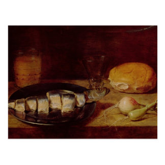 Still Life with a Herring Postcard