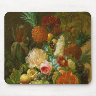 Still Life with a Melon and Grapes Mouse Mat