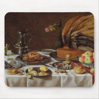 Still Life with a Peacock Pie, 1627 Mouse Mat