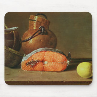 Still Life with a Piece of Salmon Mouse Pad
