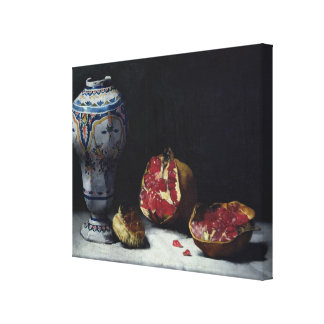 Still Life with a Pomegranate Canvas Print