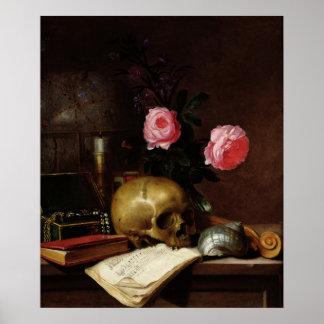 Still Life with a Skull Poster
