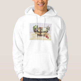 Still life with a trug of vegetables 1996 hoodie