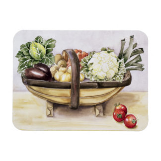 Still life with a trug of vegetables 1996 magnet