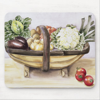 Still life with a trug of vegetables 1996 mouse mat