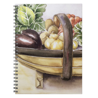 Still life with a trug of vegetables 1996 notebooks