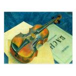 Still Life with a Violin, 1921 Postcard