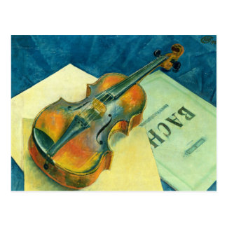 Still Life with a Violin, 1921 Postcard