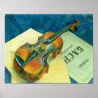 Still Life with a Violin, 1921 Poster