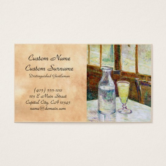 Still Life with Absinthe Vincent van Gogh paint Business Card