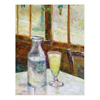 Still Life with Absinthe Vincent van Gogh paint Postcard