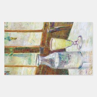 Still Life with Absinthe Vincent van Gogh paint Rectangular Sticker