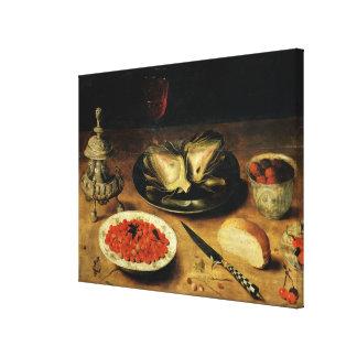Still Life with an Artichoke Canvas Print