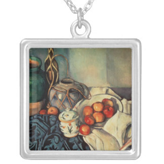 Still Life with Apples, 1893-94 Silver Plated Necklace