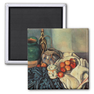 Still Life with Apples, 1893-94 Square Magnet