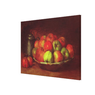 Still Life with Apples and a Pomegranate Canvas Print