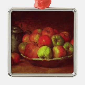 Still Life with Apples and a Pomegranate Christmas Ornament