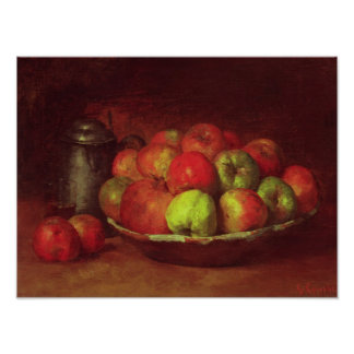 Still Life with Apples and a Pomegranate Poster