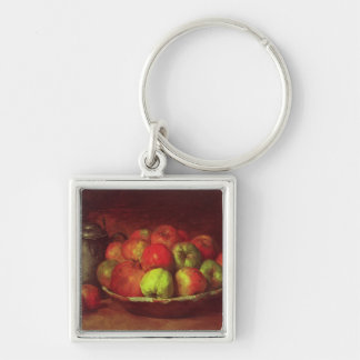 Still Life with Apples and a Pomegranate Silver-Colored Square Key Ring