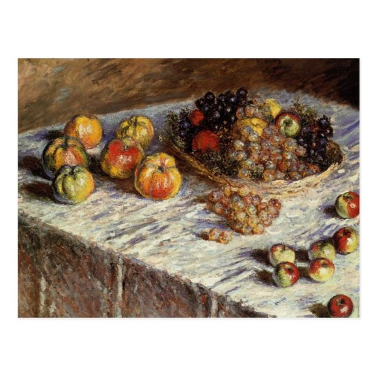 Still Life with Apples and Grapes Postcard