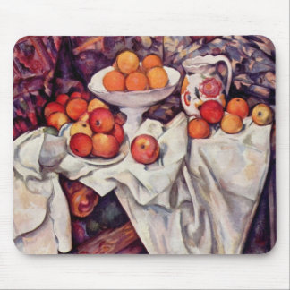 Still Life with Apples and Oranges Mouse Pad