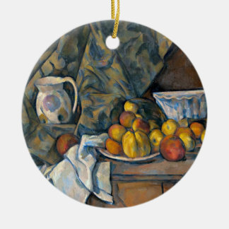 Still Life with Apples and Peaches, c.1905 Round Ceramic Decoration
