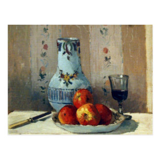 Still Life with Apples and Pitcher - Pissarro Postcard