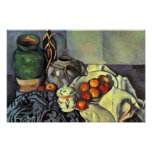 Still Life With Apples By Paul Cézanne Poster