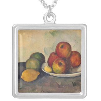 Still life with Apples, c.1890 Silver Plated Necklace