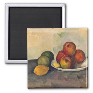 Still life with Apples, c.1890 Square Magnet