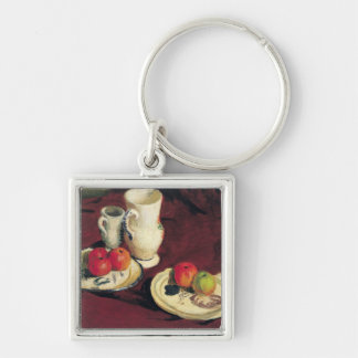 Still Life with Apples Silver-Colored Square Key Ring