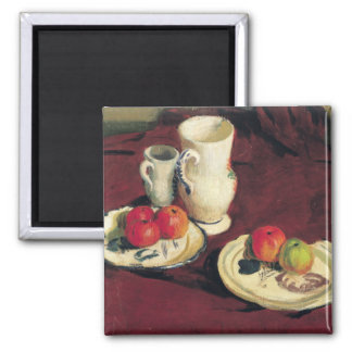 Still Life with Apples Square Magnet