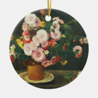 Still life with asters christmas ornament