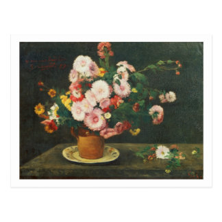 Still life with asters postcard